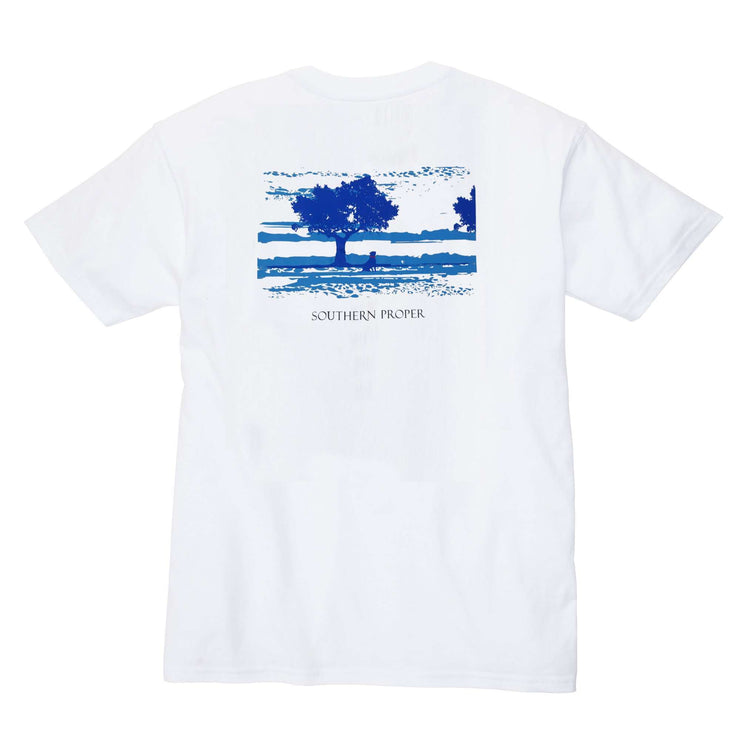 Southern Proper - Marsh Dog Tee: White
