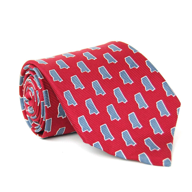 Southern Proper - Mississippi Gameday Tie: Maroon