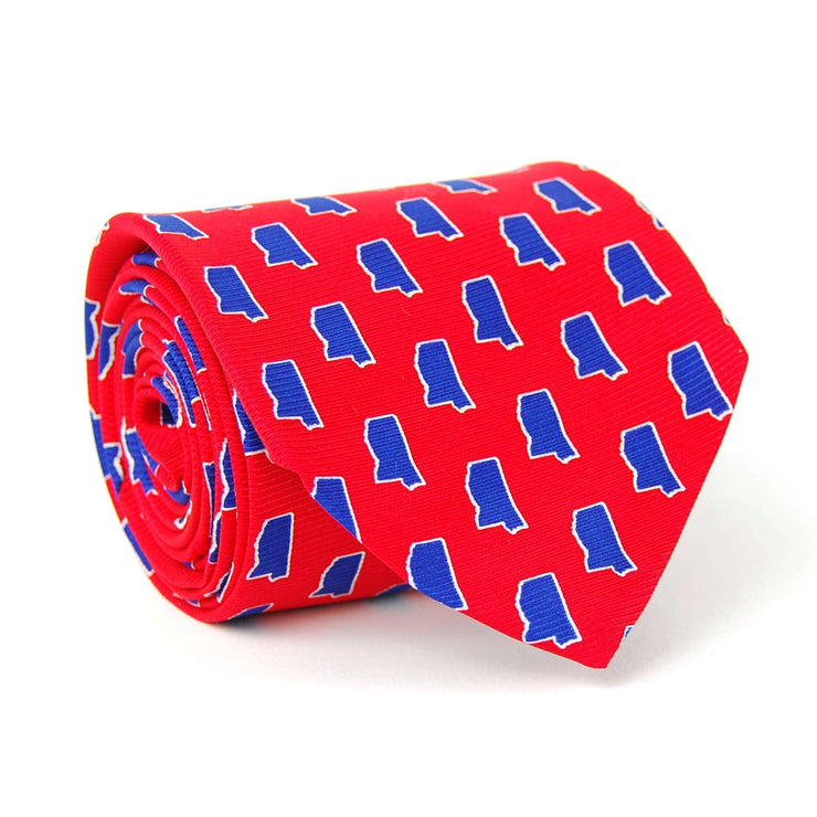 Southern Proper - Mississippi Gameday Tie: Red