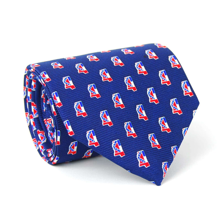 Southern Proper - Mississippi Traditional Tie: Navy