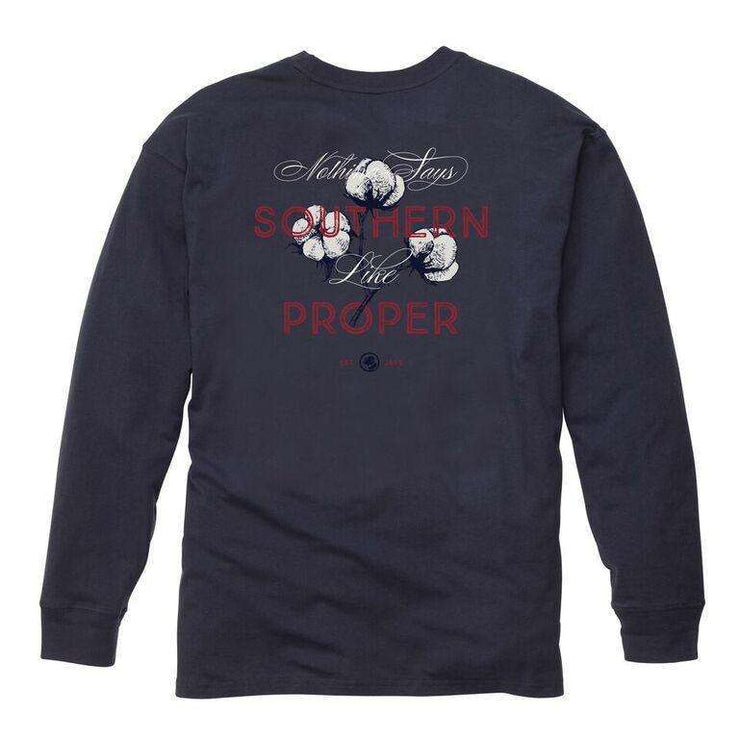 Southern Proper - Nothing Says Southern - Navy Long Sleeve