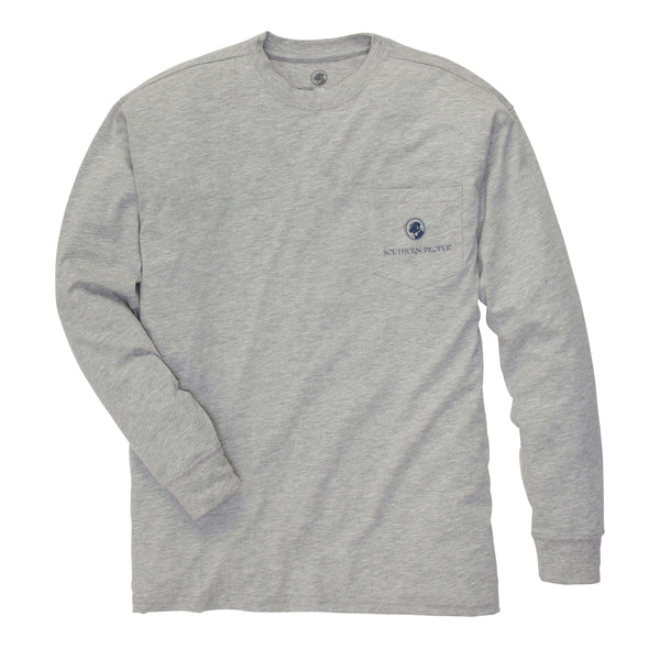 Southern Proper - Nothing Says Southern Tee- Heather Grey Long Sleeve