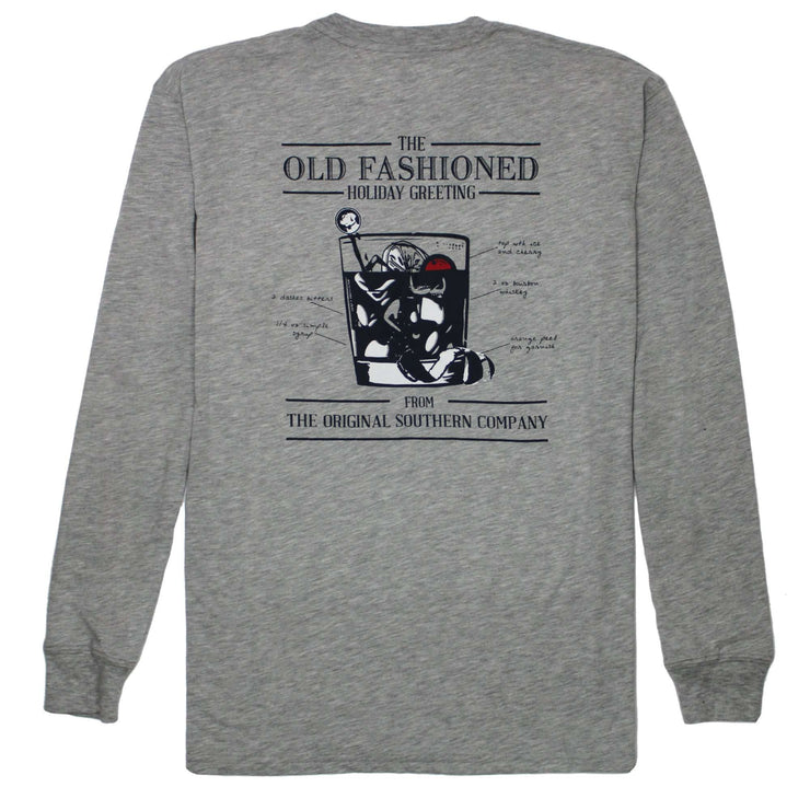Southern Proper - Old Fashioned Greeting Long Sleeve Tee: Heather Grey