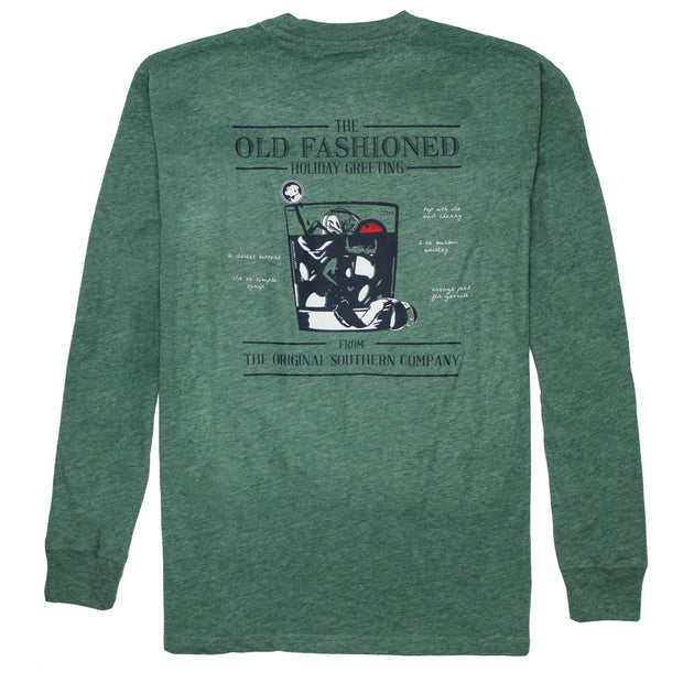 Southern Proper - Old Fashioned Greeting Long Sleeve Tee: Heather Moss