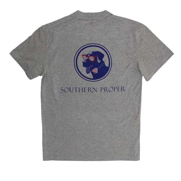 Southern Proper - Old Glory Lab Tee: Lt. Heather Grey