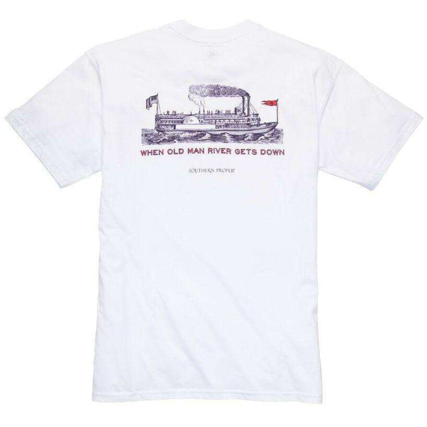 Southern Proper - Old Man River: White Short Sleeve