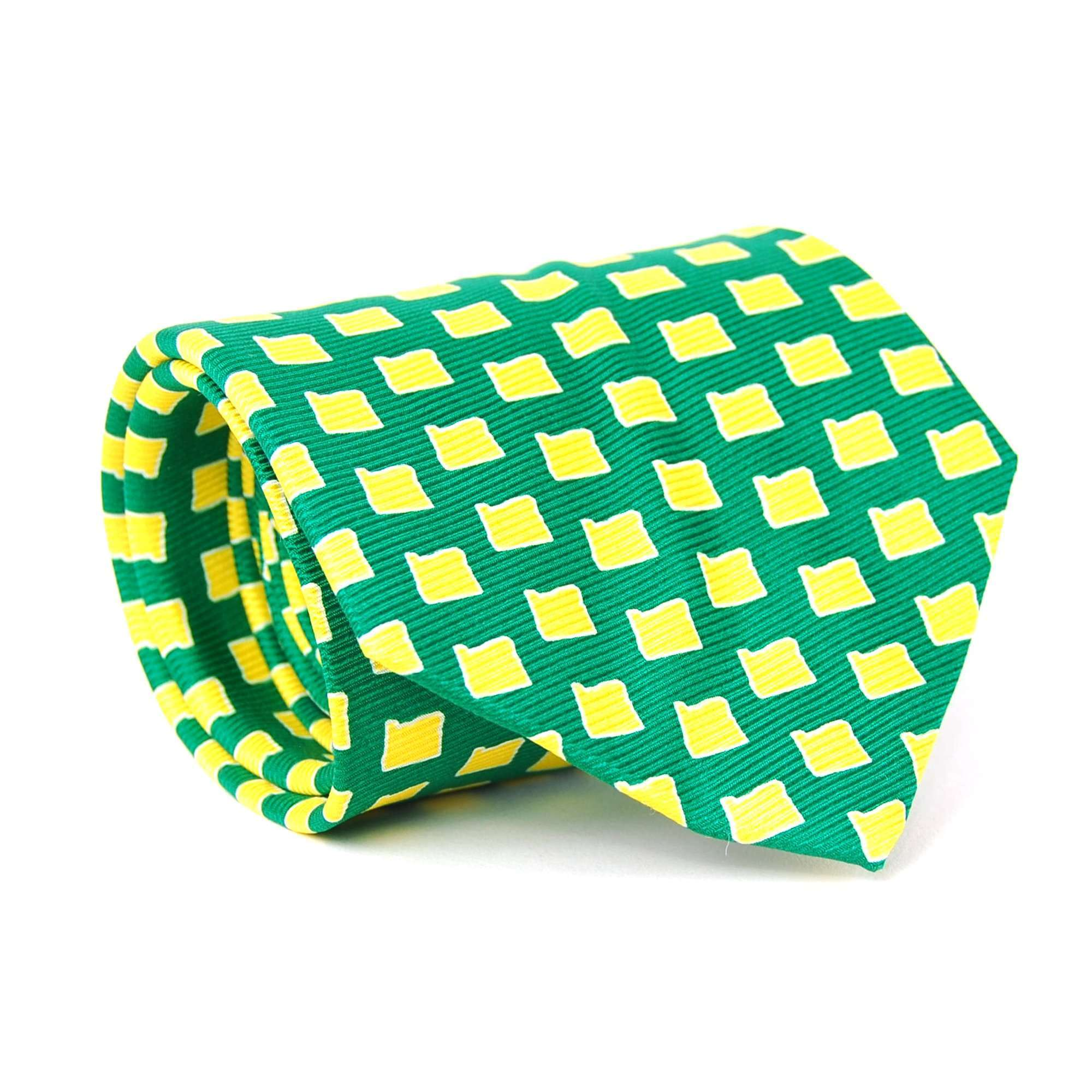 Oregon Gameday Tie: Green