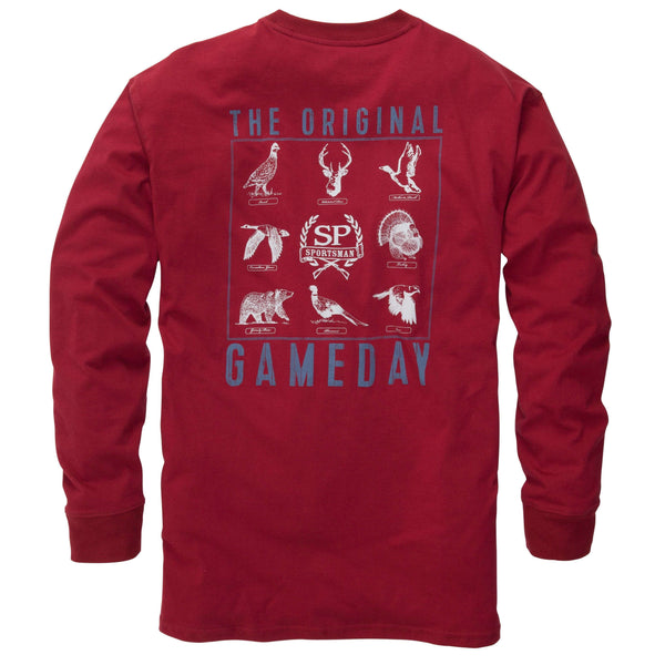 Southern Proper - The Original Gameday Tee: Rhubarb Long Sleeve