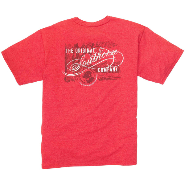 Southern Proper - Original Southern Tee: Poinsettia