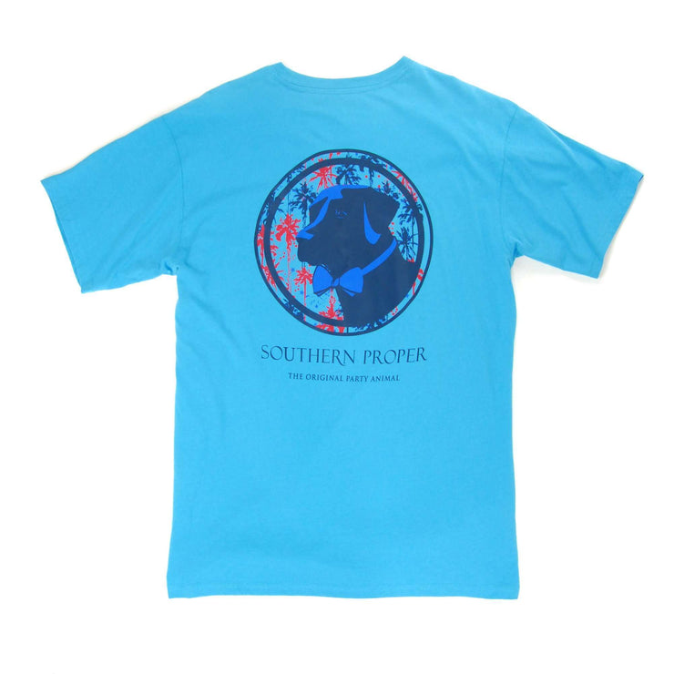Southern Proper - Palmetto Firework Lab Tee: May River Blue