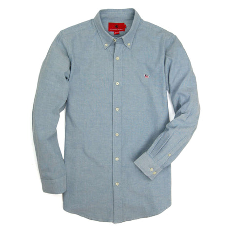 Southern Proper - Party Animal Oxford - Blue Stone