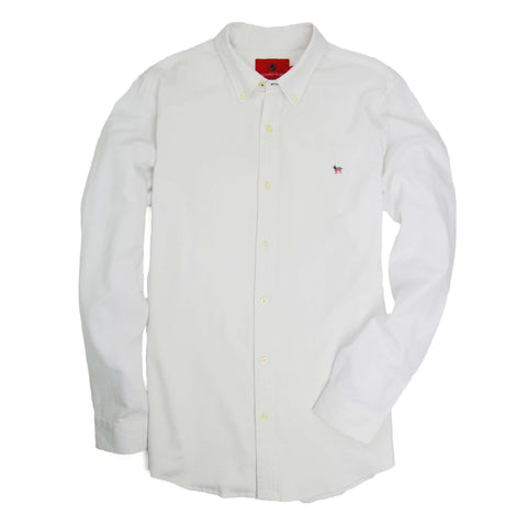 Southern Proper - Party Animal Oxford - White