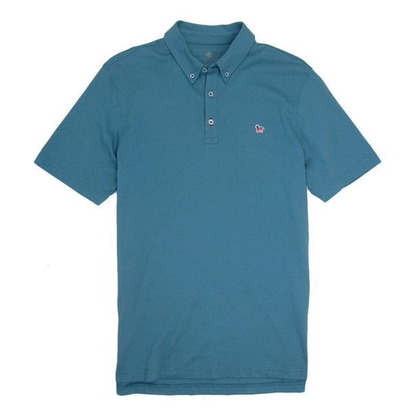 Southern Proper - Party Animal Polo - Blue Stone