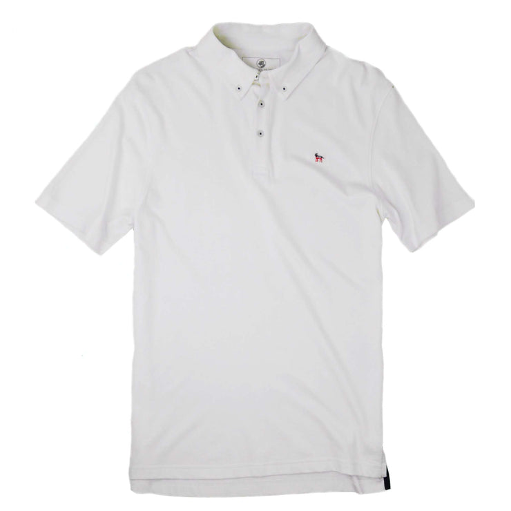 Southern Proper - Party Animal Polo: White