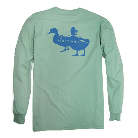 Southern Proper - Party Foul Tee - Silt Green