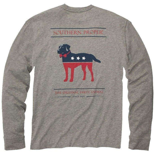 Southern Proper - The Party Animal Tee: Grey Long Sleeve
