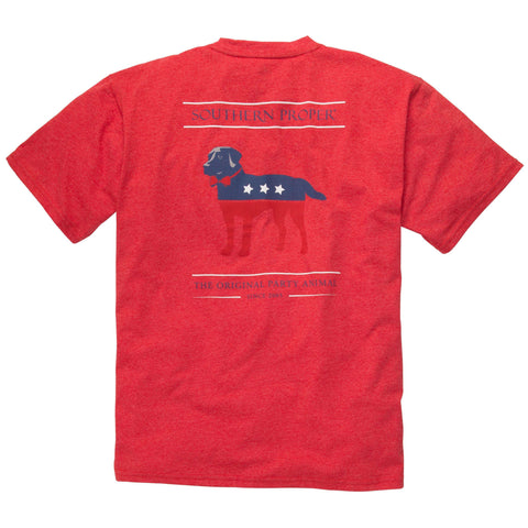 Southern Proper - Party Animal Tee: Poinsettia