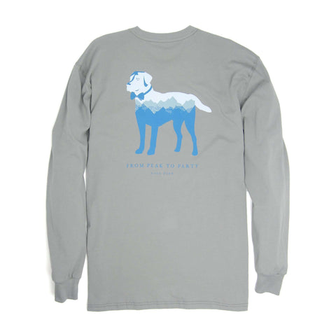 Southern Proper - Peak Party Animal Tee - Flint Grey