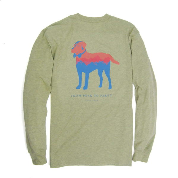 Southern Proper - Peak Party Animal Tee - Heather Sage Green