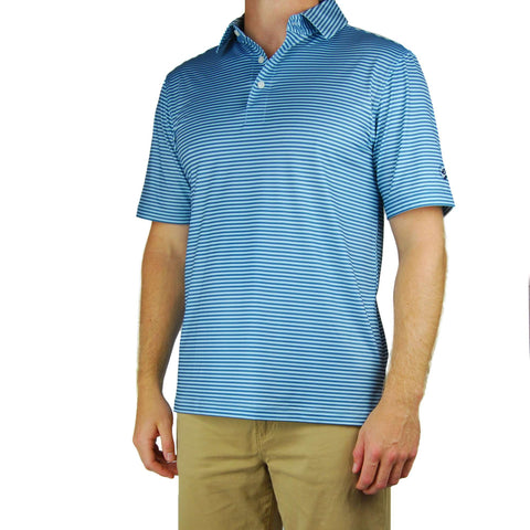 Southern Proper - Performance Polo - Blue Stone/Country Blue