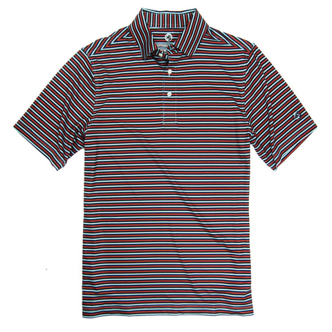 Southern Proper - Performance Polo - Dusty Cedar/Blueberry