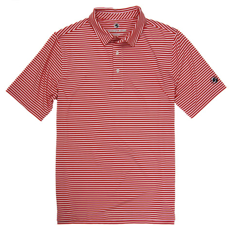 Southern Proper - Performance Polo - True Red/White