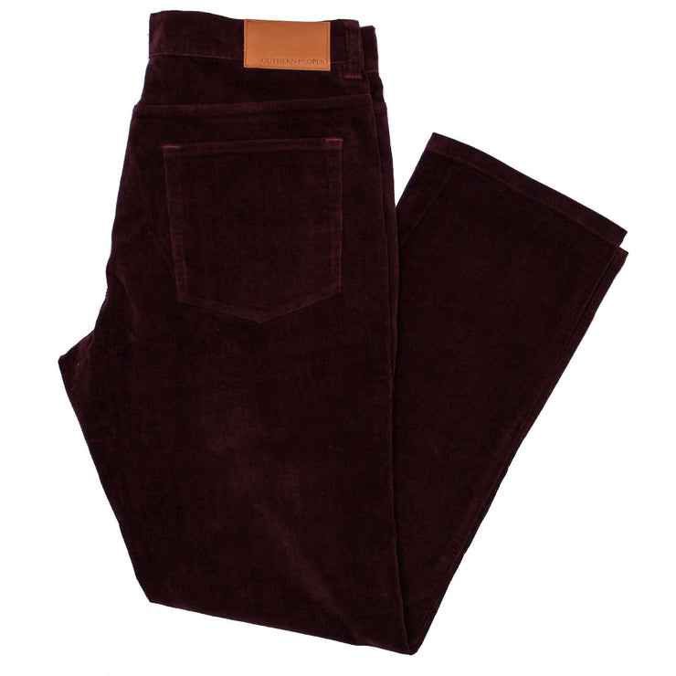 Southern Proper - Perry Five Pocket Cord: Wine