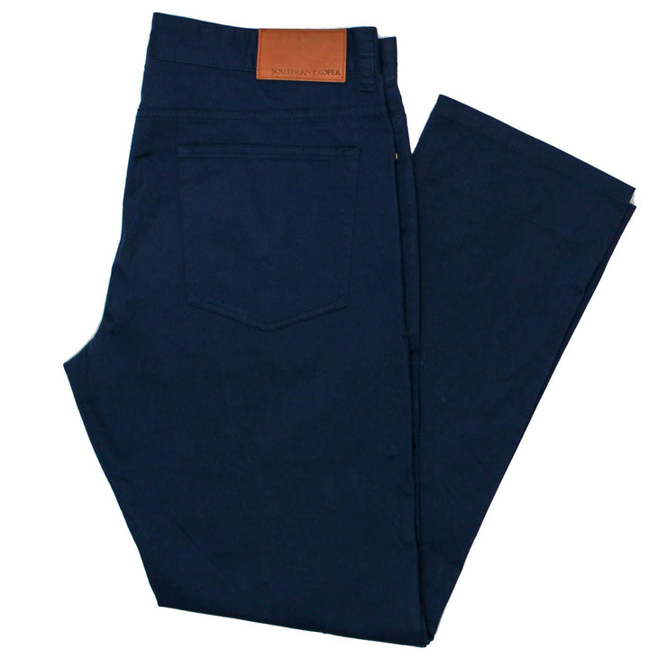 Southern Proper - Perry Five Pocket: Proper Navy