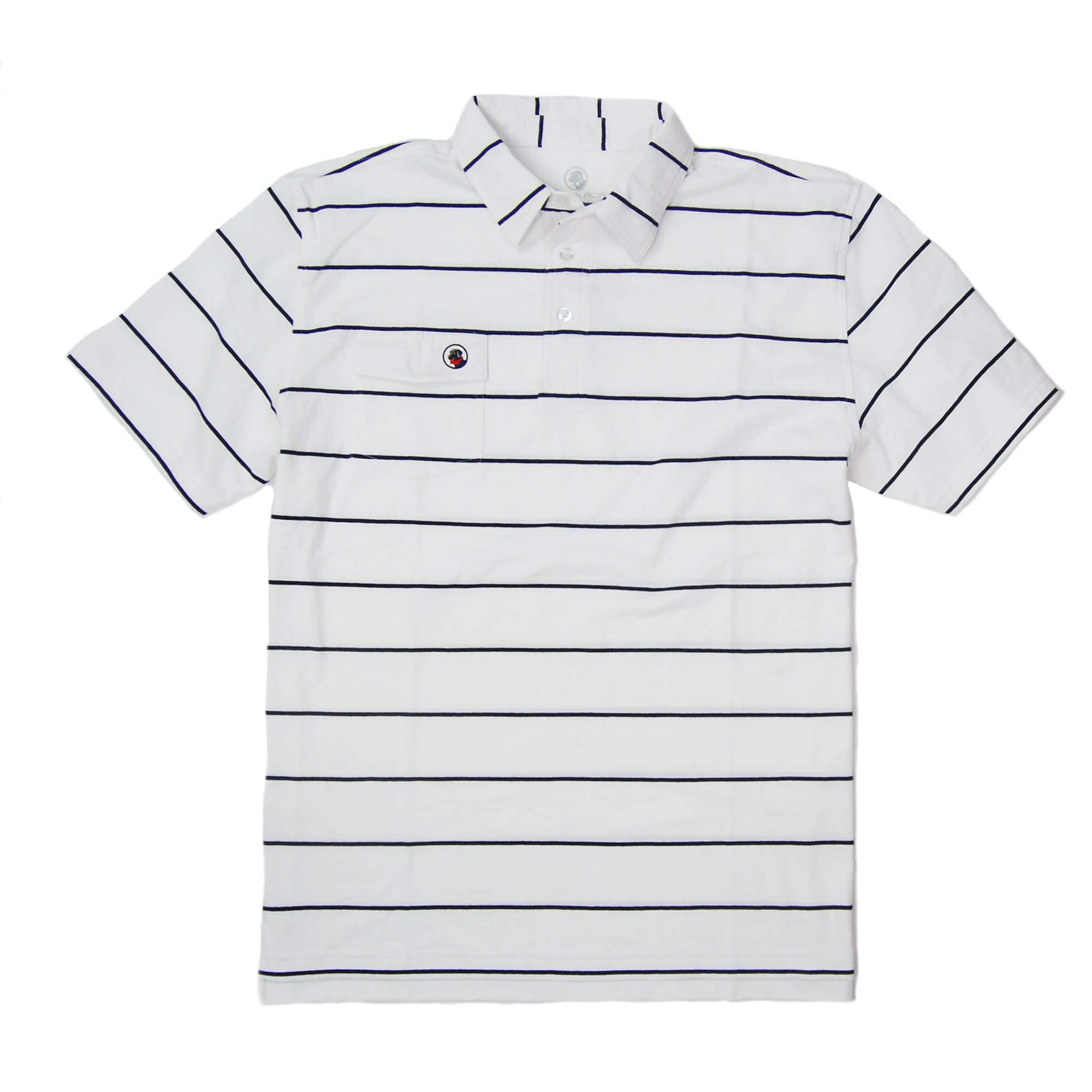 Proper Polo: Navy/White Stripe