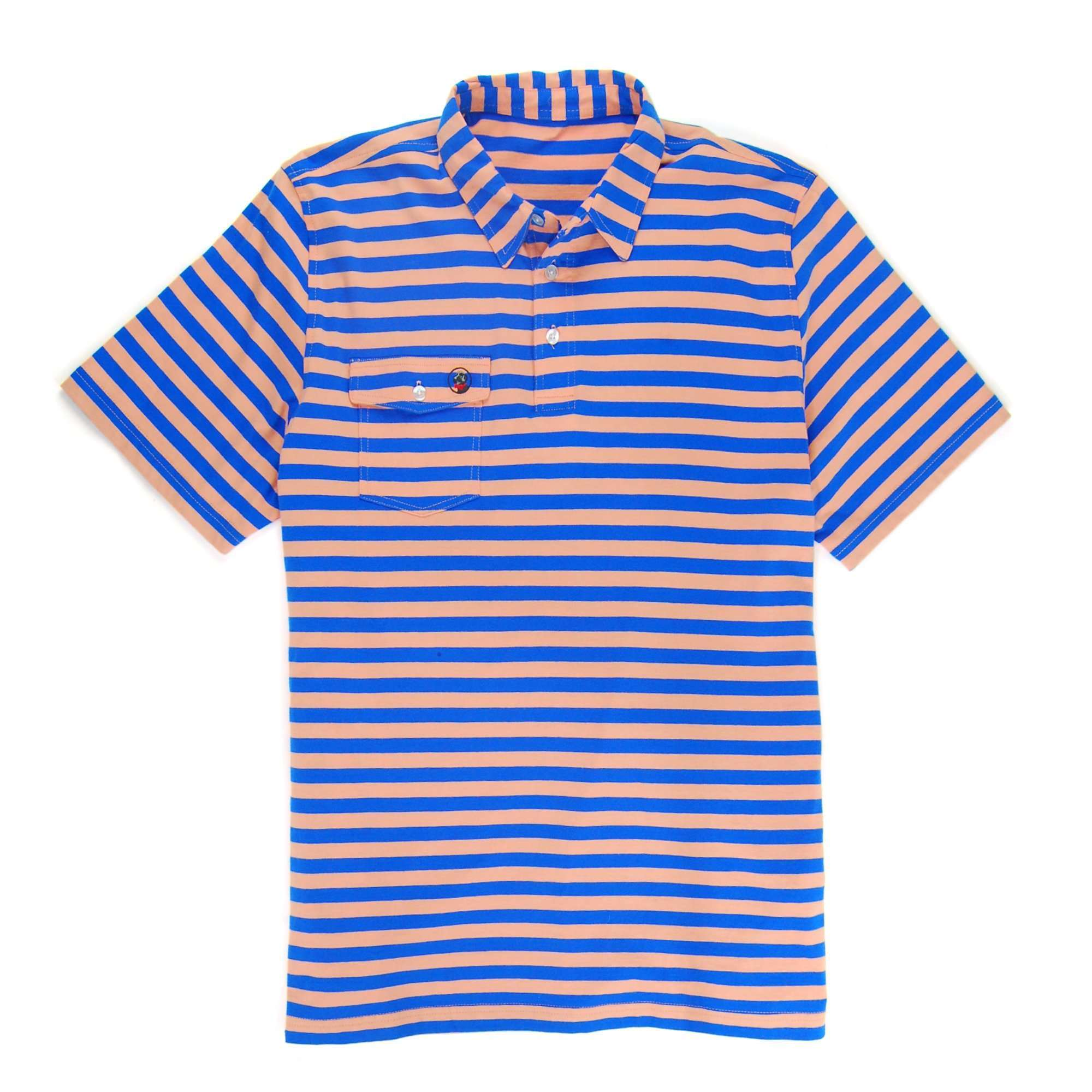 Proper Polo: Sunset/Paddle Blue Stripe
