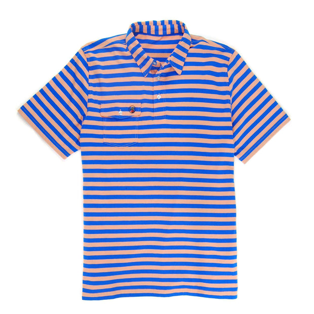 Southern Proper - Proper Polo: Sunset/Paddle Blue Stripe