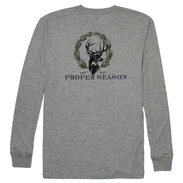Southern Proper - Proper Season Long Sleeve Tee: Heather Grey