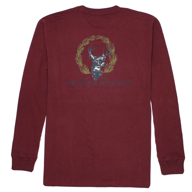 Southern Proper - Proper Season Long Sleeve Tee: Wine