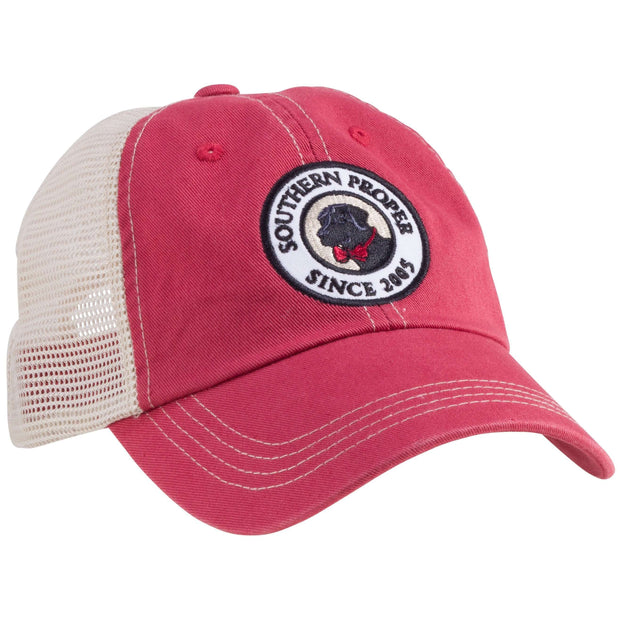 Southern Proper - Original Logo Patch Trucker: Red