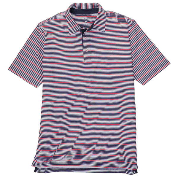 Southern Proper - Performance Polo: Red and Navy