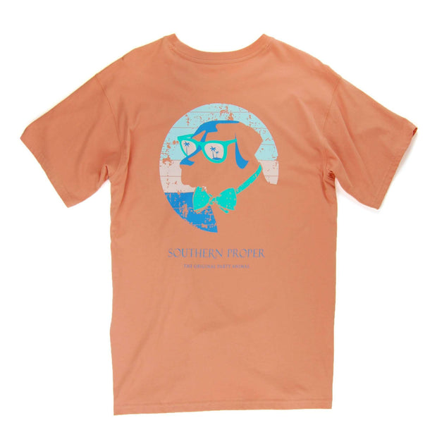 Southern Proper - Retro Shade Dog Tee: Sunset