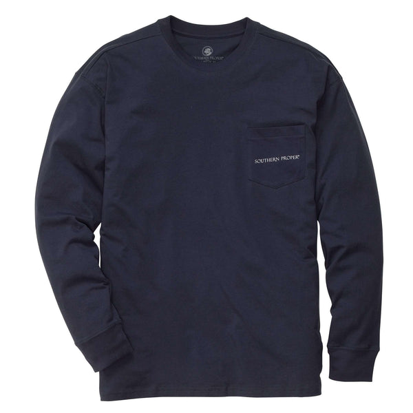 Southern Proper - Our Roots: True Navy Long Sleeve