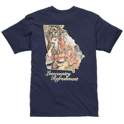 Southern Proper - Lowcountry Refreshment Tee: Navy