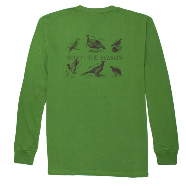 Southern Proper - Shoot The Season Long Sleeve Tee: Kudzu