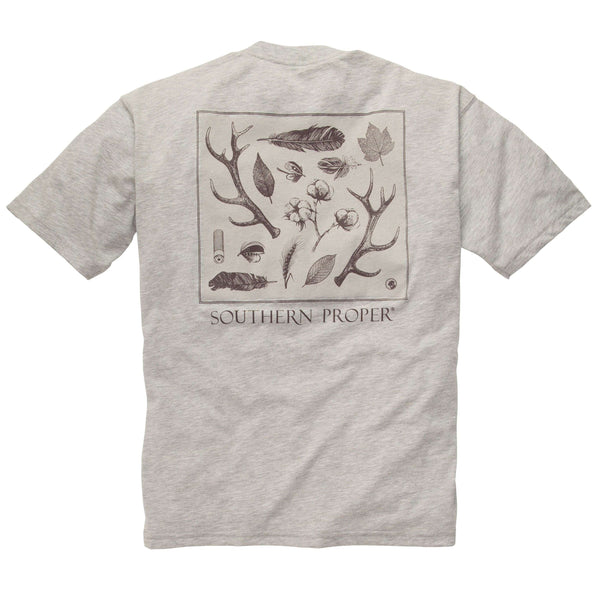 Southern Proper - Signs of the Season Tee: Heather Grey