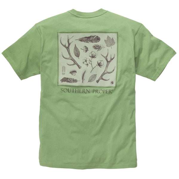 Southern Proper - Signs of the Season Tee: Loden Frost