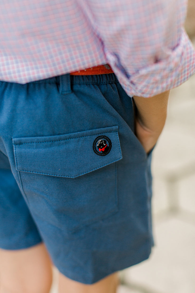 Southern Proper - Boys - PC Short: Blue Shadow