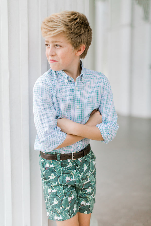 Southern Proper - Boys - Society Short: Wild Palm