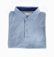 Southern Proper - Covington Polo: Patriot Blue / Porch White Stripe