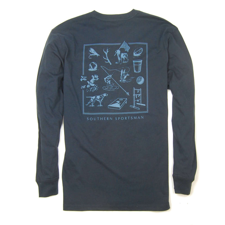 Southern Proper - Southern Sportsman Tee - Blueberry