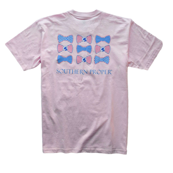 Southern Proper - ONLINE EXCLUSIVE: USA Beau Short Sleeve: Light Pink