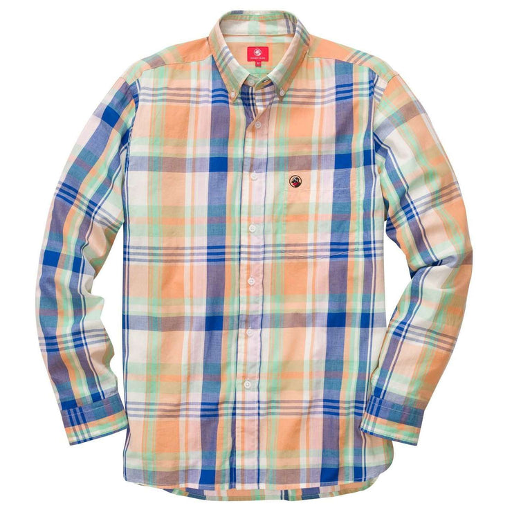 Southern Proper - Southern Shirt: Washed Navy / Orange