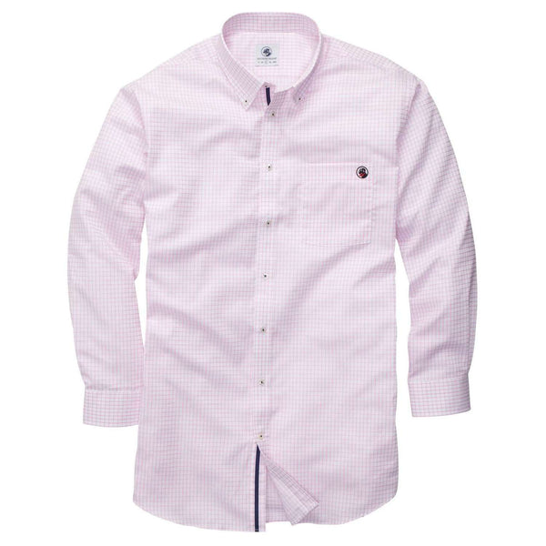 Southern Proper - The Goal Line Shirt - Pink Tattersall