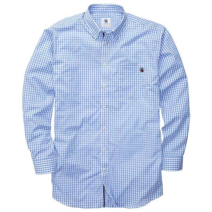 Southern Proper - The Goal Line Shirt: Blue Gingham