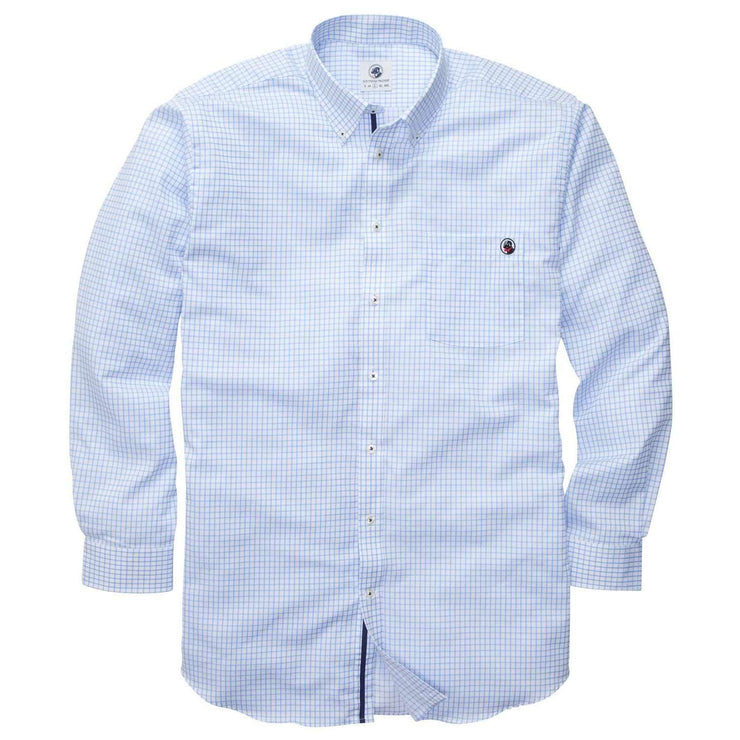 Southern Proper - The Goal Line Shirt - Blue Tattersall